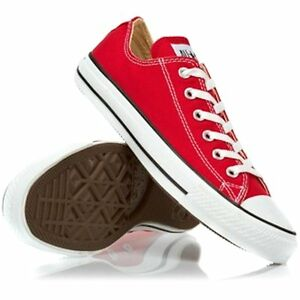 fc0054f5d1e0 Converse Chuck Taylor Low Tops Red All Sizes Youth Boys Or Girls ...