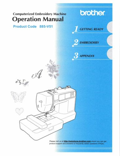 BROTHER PE-500 Embroidery Owners Manual on CD in Color