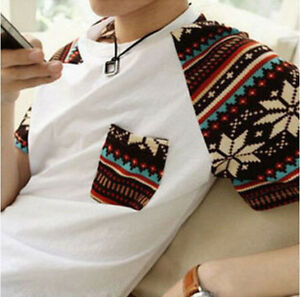 Cheap-Korean-Fashion-Mens-Summer-Top-Short-Sleeve-Boy-Round-Neck-T-shirt-M-XXL