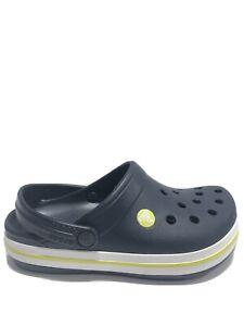 Crocs Bambini Crocband Intasa K, Slip-on Blu Scarpe, Ragazzo Taglia 3.