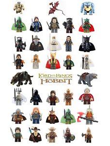 Lord-of-the-Rings-Hobbit-LEGO-figs-amp-MOC-Frodo-Gimli-Gollum-Gandalf-Orc-Goblin