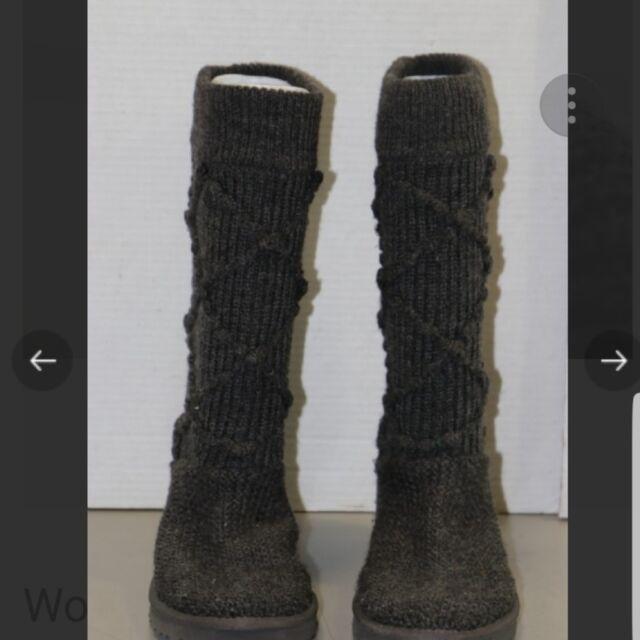 ea157995fb0 Women's UGG Australia Grey Knit Classic Cardy BOOTS Size 7