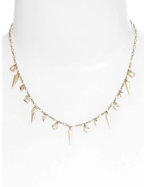 Dagger Fringe Pendant Necklace
