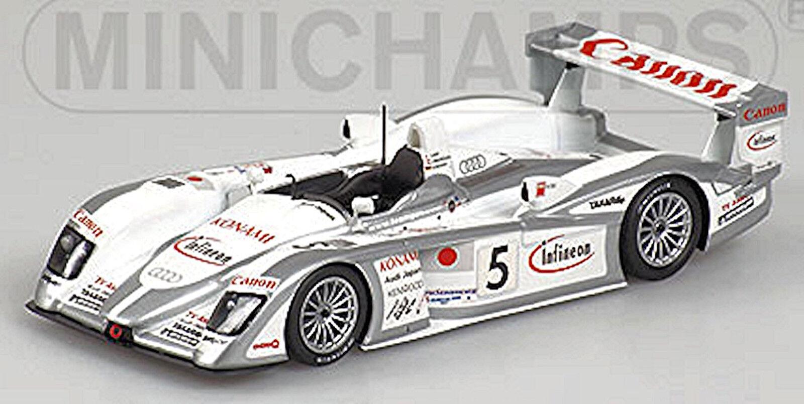 AUDI R8 Le Mans 2003 Ara Magnussen Werner  5 1 43 Minichamps