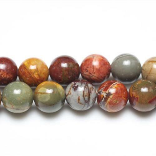 Pcs Gemstones Jewellery Making Crafts Picasso Jasper Round Beads 10mm Mixed 38