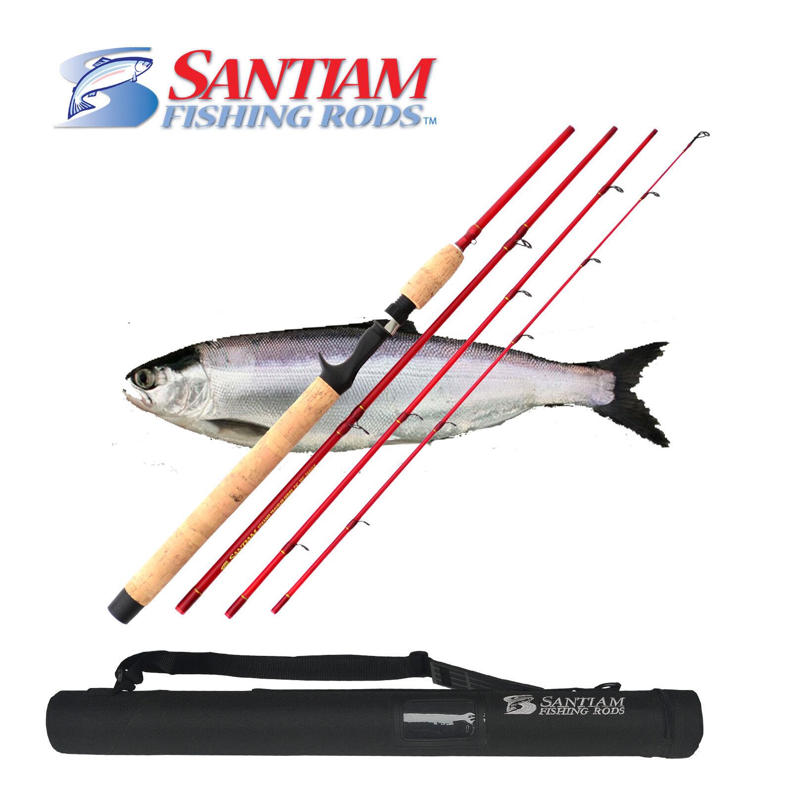Santiam  Fishing Rods 4 PC 7'6  4-10lb UL Glass Kokanee Trout Travel Rod  best price