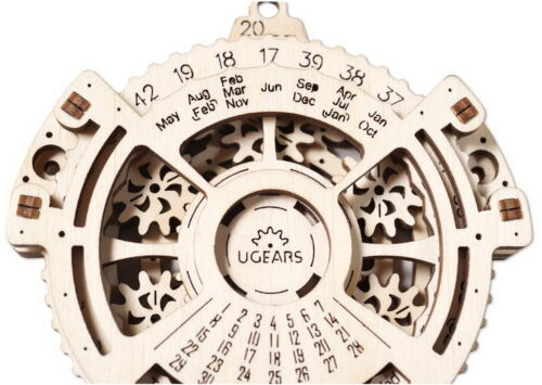 Date Navigator Model 3D Wooden Puzzle DIY Toy Assembly Gears Kit Daily Companion