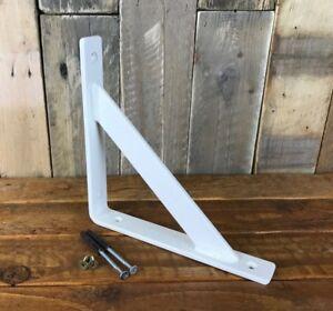 1-x-Heavy-Duty-Metal-Shelf-Bracket-Handmade-White-Gloss-Industrial-30x6mm-Steel