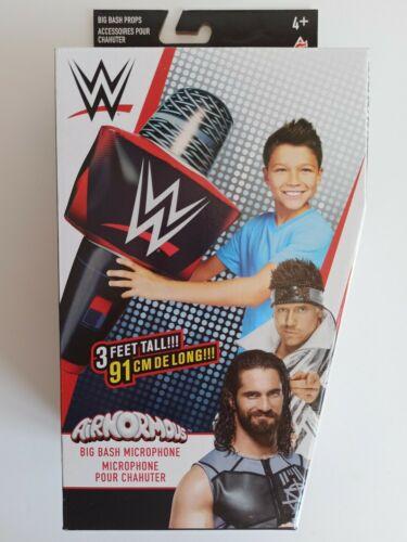 WWE Big Bash GONFIABILE 40cm MICROFONO Prop Costume Per Bambini Wrestling 4+