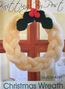 Knitting By Post Christmas Wreath Knitting Pattern 062 Ebay