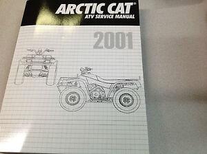 2002 Arctic Cat ATV 250 300 375 400 500 repair service shop manual ring binder
