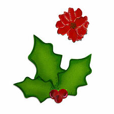 Sizzix Bigz Holly die with FREE Embosslits Poinsettia die #658184 Retail $19.99