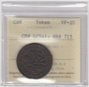 Lower-Canada-Br-715-CH-LC5A1-Bouquet-Sou-Token-Very-Fine
