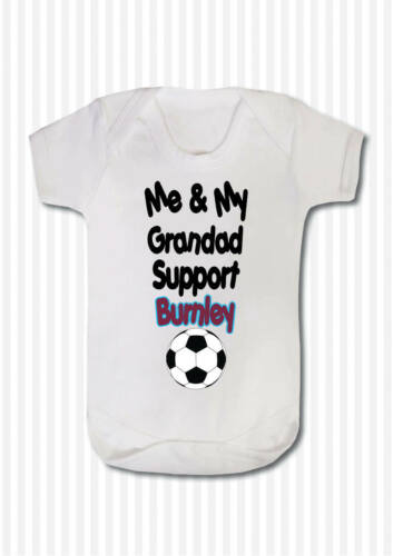 ME AND MY GRANDAD SUPPORT FOOTBALL TEAM BABY BODY GROW SUIT VEST GIRL BOY GIFT