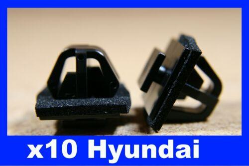 Para Hyundai 10 puerta Panel sujetador de retención Bump Cero Tira Sello Clips