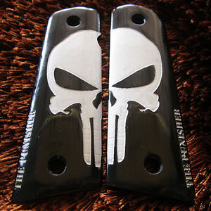 AMBI-SAFETY RESIN GRIP FOR COLT 1911 KIMBER CLONE TAURUS PUNISHER STYLE FULL SZ