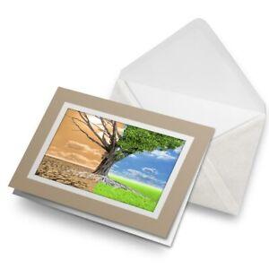 Greetings-Card-Biege-Global-Warming-Concept-Tree-21073