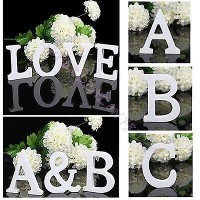 Freestanding Wood Wooden Letters Alphabet Bridal Wedding Party Home Shop Decor