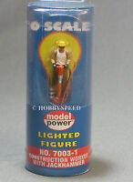 Model Power 7003-1 O-Scale Construction Worker w Jackhammer LED Lighted New Toys