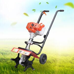 52CC 2 Stroke Gas Powered Tiller Cultivator Plant Garden Farm Tilling Tool