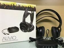 Auvio 3301722 Wireless Infrared Headphones Rechargeable HDTV Stereo Black