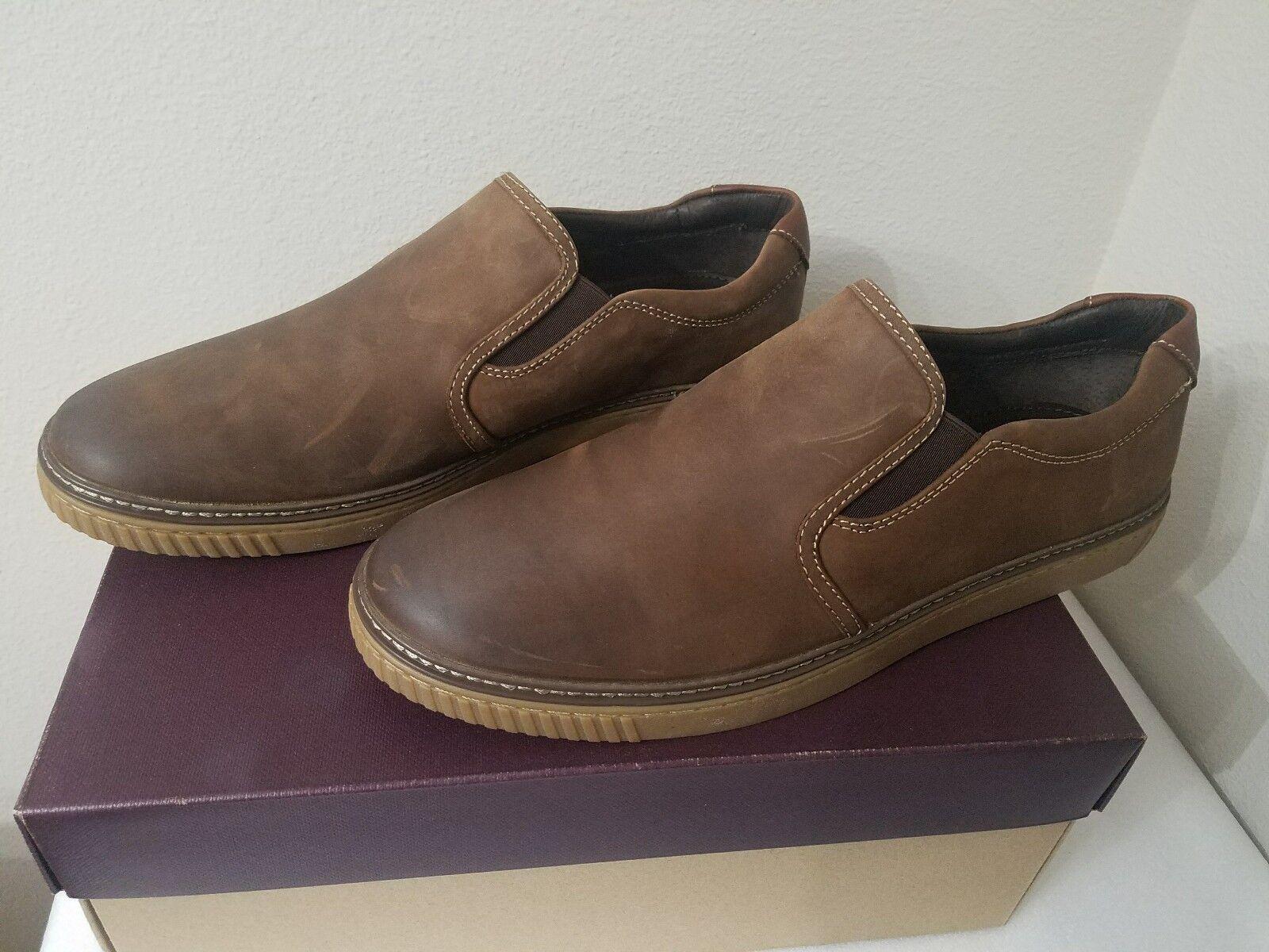 negozio online outlet Johnston & Murphy 25-2820 Marrone Oiled Slip Slip Slip On scarpe 12M  moda