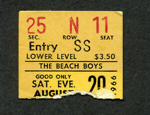 1966-The-Beach-Boys-Concert-Ticket-Stub-Portland-Pet-Sounds-Wouldn-039-t-It-Be-Nice