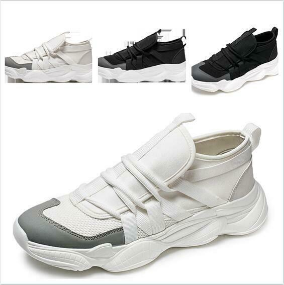2019 Spring New Mens shoes Jogging Sneaker Casual Comfort Board Lace Up Platform