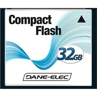 Dane-elec 32gb Compact Flash Cf Memory Card For Nikon D800 D200 D100