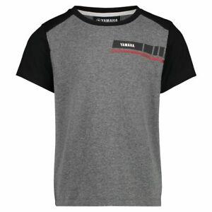 Genuine-Yamaha-REVS-2019-Kid-039-s-Richmond-T-Shirt-Black-Grey-Short-Sleeve-Tee-NEW
