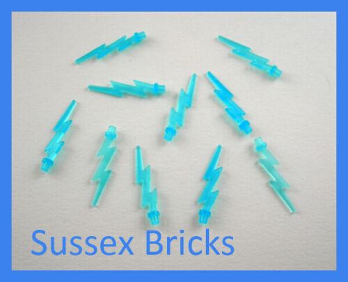 10x Trans Light Blue Lightning Wave Bolt Spark Energy Effect 27256 New Lego