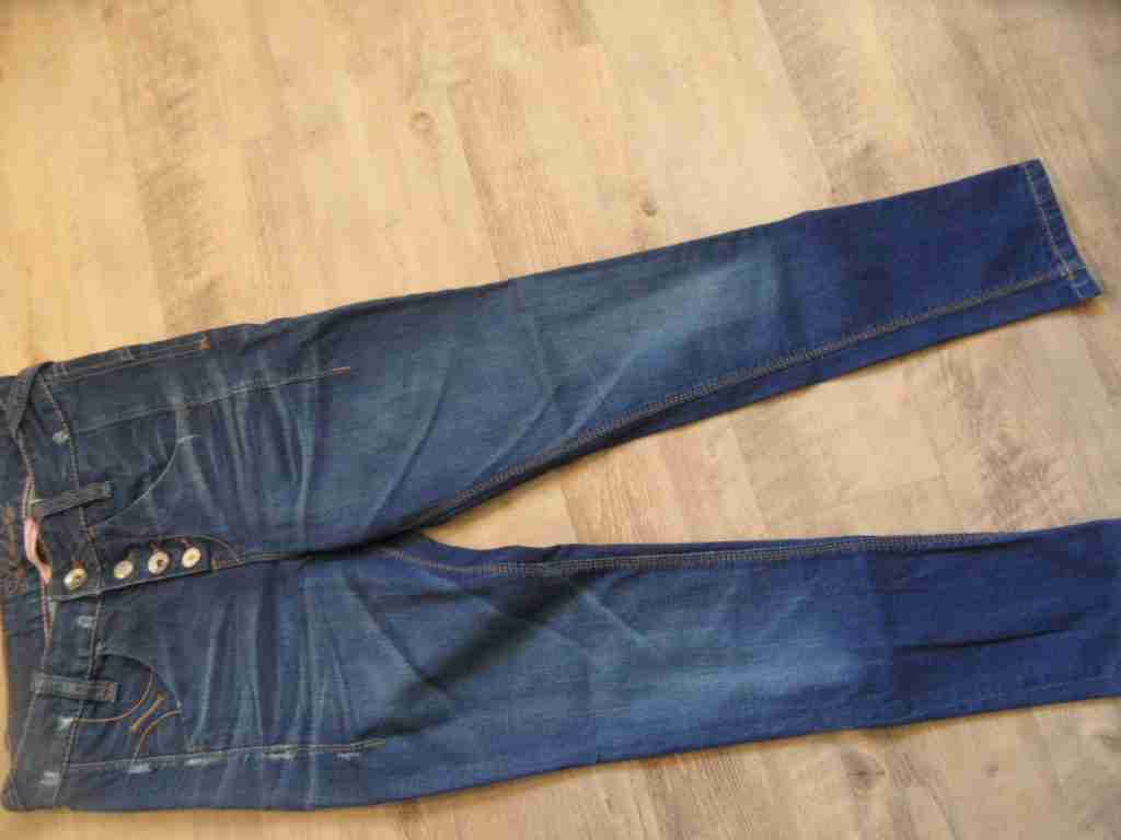 FORNARINA Elegante Jeans Jeans Jeans Skinny M. Visibile abbottonatura tg. 26 fk1216 04af03