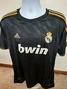 Real Madrid Away Futbol Shirt Soccer Jersey Adidas Climacool bwin Size Large