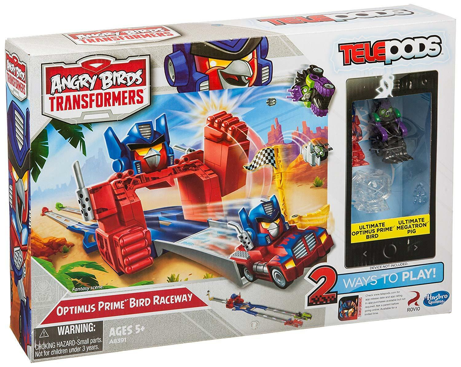 Angry Birds Transformers Telepods Optimus  Bird Raceway