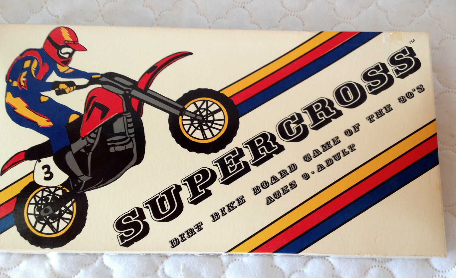 Supercross Dirt Bike Board Game of the 1980's Tri-Game Productions 1982