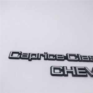 Set of 2 Custom 1977-90 CAPRICE CLASSIC Chevy TRUNK Tail EMBLEM BADGE Logo