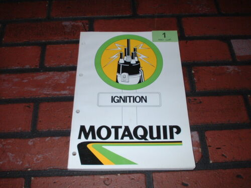 1987. GENUINE MOTAQUIP IGNITION PARTS CATALOGUE