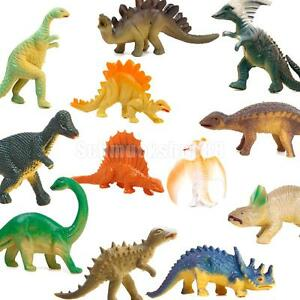 12er set mini dinosaurier figuren spielzeug modell tiere kindergarten spiel ebay. Black Bedroom Furniture Sets. Home Design Ideas