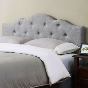 Image Is Loading Tufted Headboard King Size Upholstered Bedroom Furniture Modern
