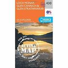 Loch Monar, Glen Cannich and Glen Strathfarrar by Ordnance Survey (Sheet map, folded, 2015)