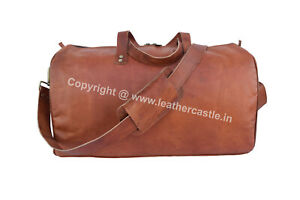 Small 18 In Leather Duffle Bag Travel Luggage Handbags Aircabin Carryon Duffel