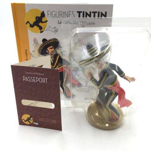 Collection Officielle Tintin Figurine N10 alcazar coque plastiq livret passeport