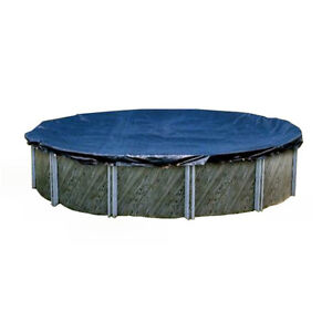 Swimline 18 foot round above ground winter swimming pool cover blue pco821 ebay for Pool covers above ground swimming pools