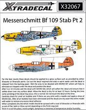 Xtradecal 1//32 Messerschmitt Bf 109 Stab Part 1 # 32065