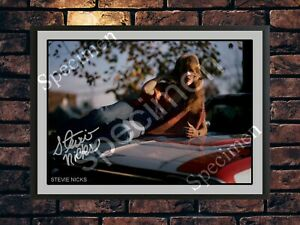 Fleetwood Mac Stevie Nicks Signed Autographed A4 Photo Print Poster Memorabilia