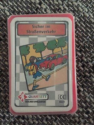 Quartetto Sicura Nel Trasporto Stradale Best. N. 8231 Di Berlino Carte Da Gioco-mostra Il Titolo Originale Dolorante