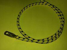 Flat Tank Vintage Yellow/Black Cotton Braided Spark Plug Lead Terminal 300mm