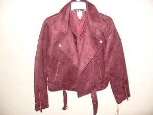 Moto Copper Lauren ~ Lc Zip Suede buttons 10 Conway Jacket Wine Runway Size TBxCqRI