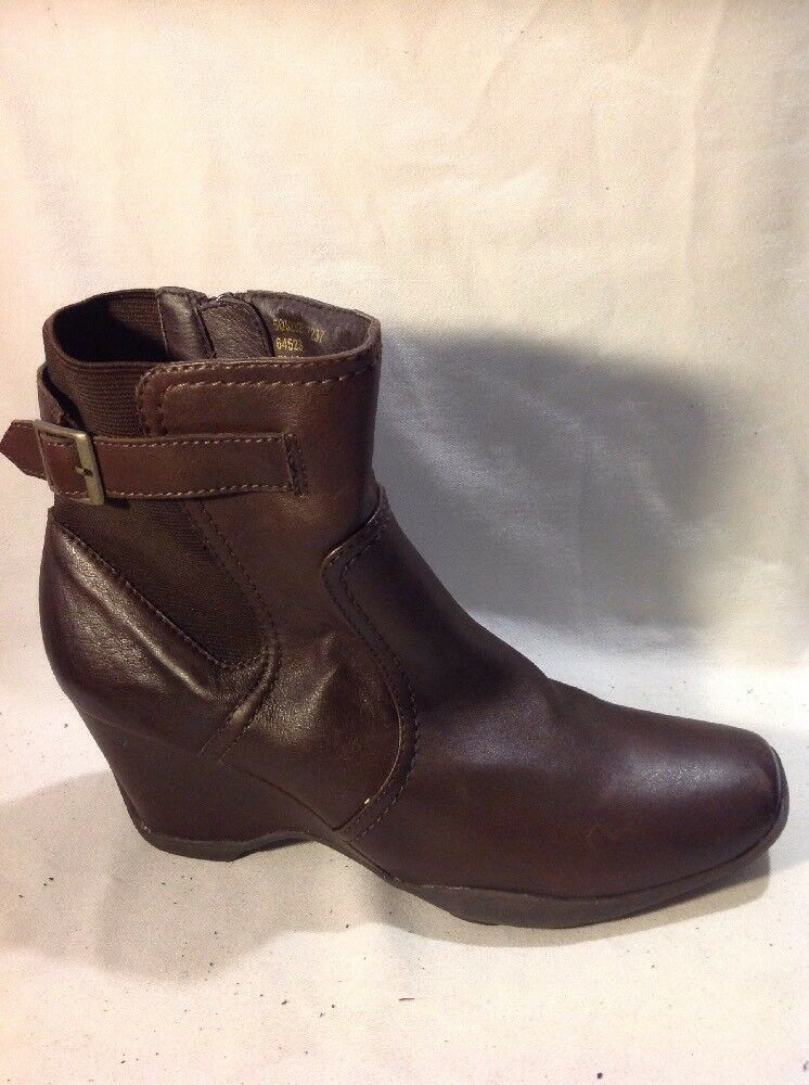 F&F Sensitive Sole Brown Ankle Leather Boots Size 39