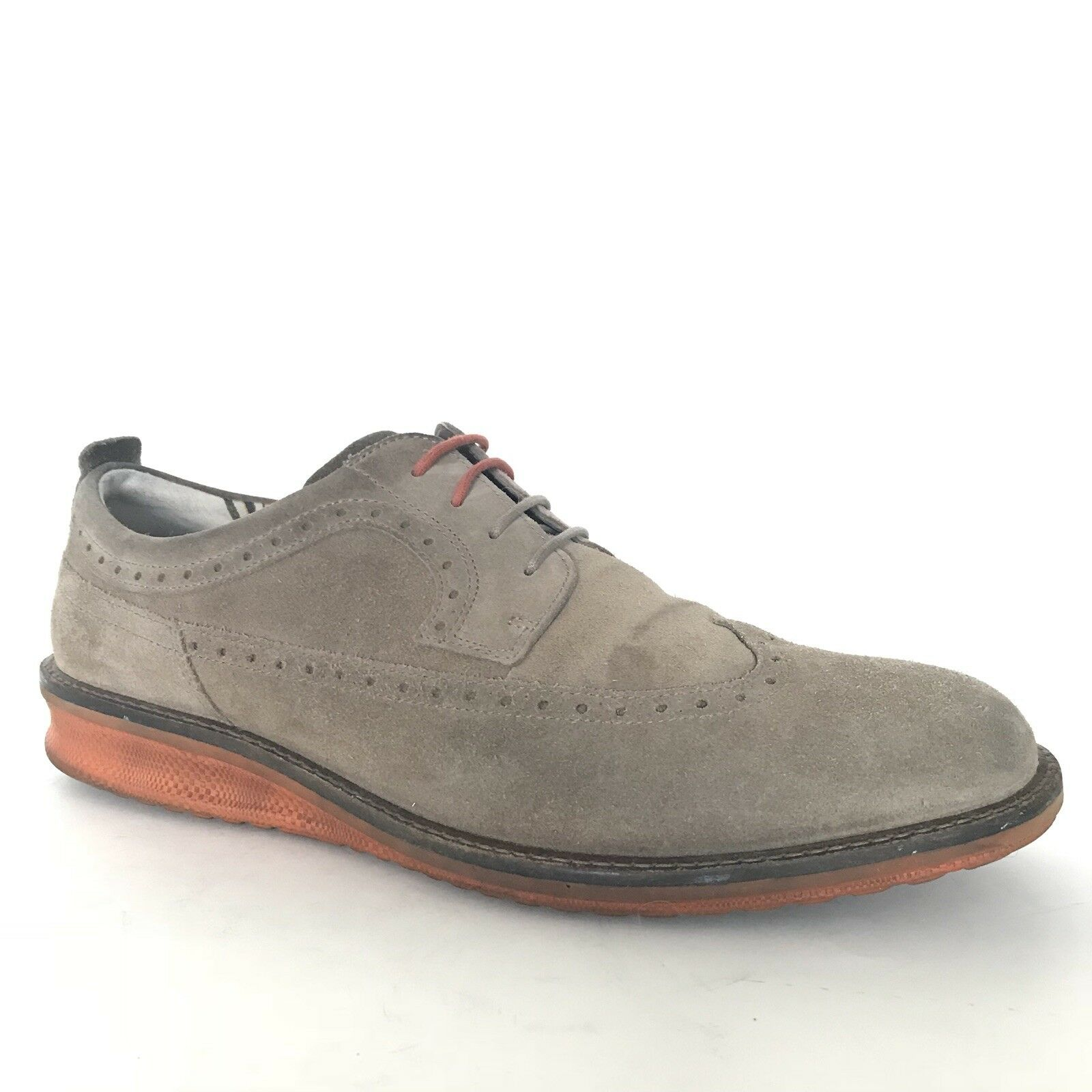 ECCO Mens Leather Wingtip Sneakers Size 11 EUR 45 UK 10 Lace Up Comfort shoes